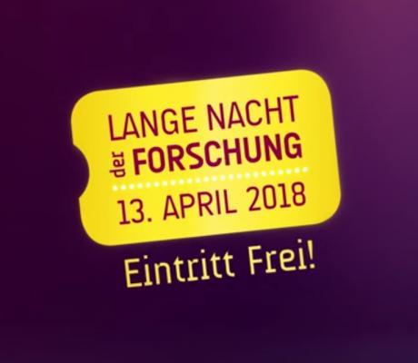 Lange Nacht der Forschung am 13. April 2018
