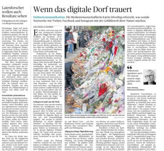 """Interview bei DIE PRESSE: """"Wenn das digitale Dorf trauert"""""""