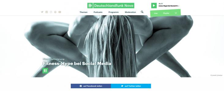 "Interview beim Deutschlandfunk: ""Körperoptimierung: Fitness-Hype bei Social Media"""